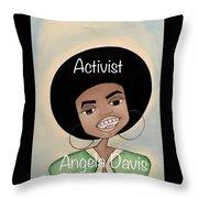 Angela Davis #2 Throw Pillow