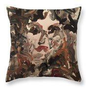 Angela I Throw Pillow by Khalid Alzayani