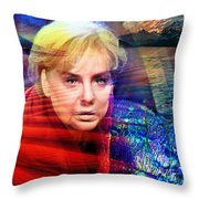 Angela Merkel's Portrait Throw Pillow