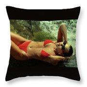 Angela Red Bikini-0721 Throw Pillow