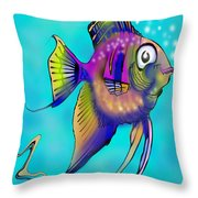 Angelfish Throw Pillow