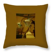 Angelfish Reflections Throw Pillow
