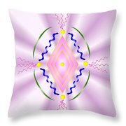 Angelic Code - Sacred Symbol Of Love Throw Pillow