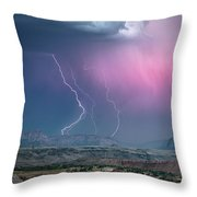 Angelic Fury Throw Pillow