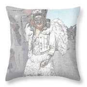 Angelic Goth Throw Pillow