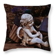 Angelic Sentry Throw Pillow