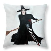 Angelica Houston Bewitched Throw Pillow