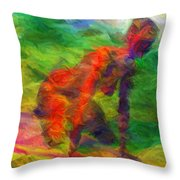 Angelie And The Kneeboard Throw Pillow