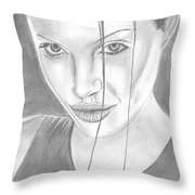 Angelina Jolie Throw Pillow