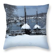 Angelique And Lewis R French In The Snow Throw Pillow
