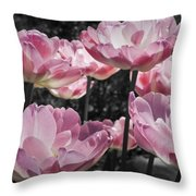 Angelique Peony Tulips Throw Pillow