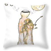 Angelita Blanco Throw Pillow