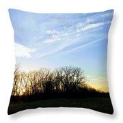Angels Above Throw Pillow