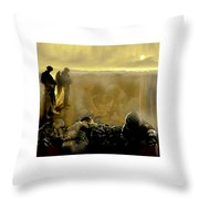 Angels And Brothers Throw Pillow