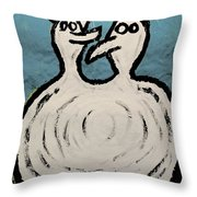 Angels And Devils - The Twins Throw Pillow