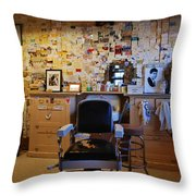 Angel's Barber Shop On Route 66 Throw Pillow