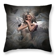 Angels Bliss Throw Pillow
