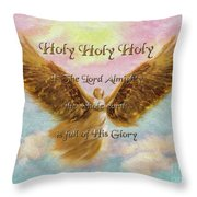 Angels Cry Holy Throw Pillow