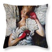 Angel's Dont Cry. Throw Pillow
