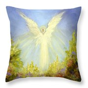 Angel's Garden Throw Pillow