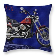 Angels Harley - Oil Throw Pillow