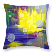 Angels In My Bedroom Throw Pillow by Anthony Falbo