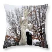 Angels In The Winter Throw Pillow