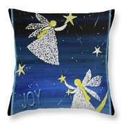 Angels, Joy, Lucky Stars Throw Pillow
