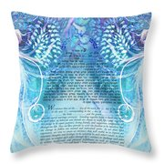 Angels Ketubah-reformed And Interfaith Version Throw Pillow