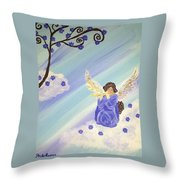 Angel's Melody  Throw Pillow