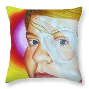 Angel's New Look Throw Pillow