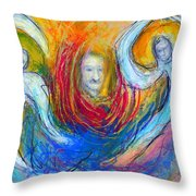 Angels Of Mercy Throw Pillow