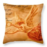 Angels On Guard Throw Pillow