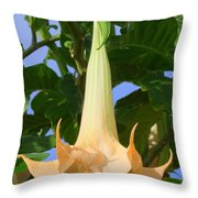 Angels Trumpet Throw Pillow