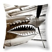 Anger Management Bw Palm Springs Air Museum Throw Pillow