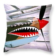 Anger Management Palm Springs Air Museum Throw Pillow