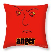 Anger Throw Pillow