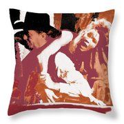 Angie Dickinson Robert Mitchum Young Billy Young Old Tucson #2 Photographer Unknown 1969-2013 Throw Pillow