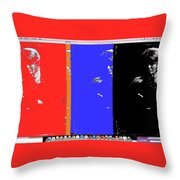 Angie Dickinsons Collage Young Billy Young Old Tucson Az 1968-2014 Throw Pillow