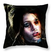 Angie, She Loves Stories Throw Pillow