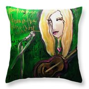 Angie Stevens Solo Throw Pillow