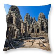 Angkor Thom Landscape Throw Pillow