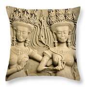 Angkor Wat Relief Throw Pillow