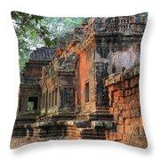 Angkor Wat Ruins - Siem Reap, Cambodia Throw Pillow