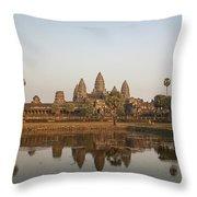 Angkor Wat Temple, Cambodia Throw Pillow