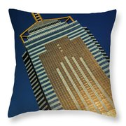 Angled View Of Central Plaza At Sunset Throw Pillow