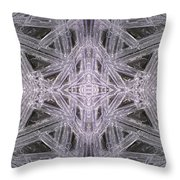 Angles In Ice On Monadnock - A4 Throw Pillow