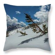 Angles Of The Mountain Throw Pillow