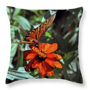 Angling For Food Throw Pillow