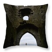Anglo - Norman Castle. Throw Pillow
